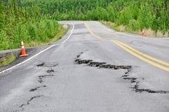 De schade van de weg stock afbeelding