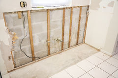 De Schade van het water in Keuken Stock Foto's