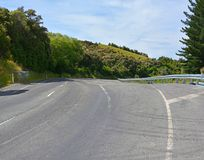 De Schade van de Kaikouraaardbeving boven Hunderlees vóór & daarna royalty-vrije stock afbeelding