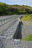 De Schade van de Kaikouraaardbeving boven Hunderlees vóór & daarna royalty-vrije stock foto's