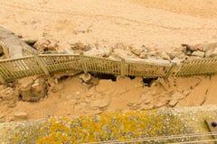 De schade van Newquay van het Fistralstrand door onweren wordt veroorzaakt dat Royalty-vrije Stock Afbeeldingen