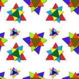 In de schaduw gesteld driehoekenpatroon Stock Afbeelding