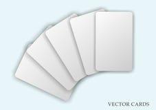 In de schaduw gestelde lege vector geplaatste kaarten Royalty-vrije Stock Afbeelding