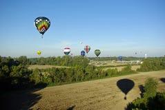 De Schaduw van de Ballon van de hete Lucht Royalty-vrije Stock Afbeeldingen
