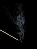 De schaduw van de dollar in rook stock foto's