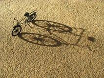 De Schaduw van de fiets Stock Foto's