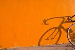 De Schaduw van de fiets Stock Afbeeldingen