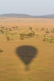 De schaduw van de hete luchtballon Royalty-vrije Stock Foto's