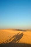 De schaduw van de kameel Stock Foto's