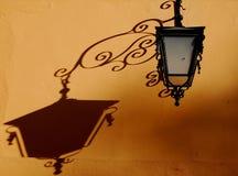 De Schaduw van de lamp Stock Foto