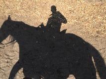 De schaduw van de paardrit Stock Fotografie