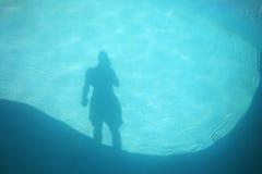 De schaduw van de pool Stock Afbeelding