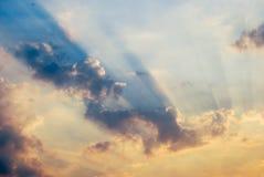 In de schaduw van de wolken stock foto
