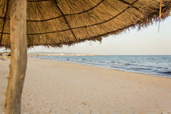 De schaduw van de zon op het strand Royalty-vrije Stock Foto