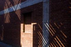 De schaduw van de deur en venster Royalty-vrije Stock Foto's