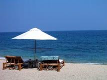 De Schaduw van het strand Stock Foto