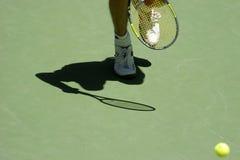 De schaduw van het tennis 03a Stock Foto's