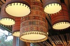 De schaduw van de kroonluchterlamp royalty-vrije stock afbeelding