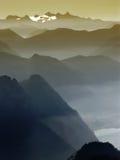 De schaduwen van de berg Royalty-vrije Stock Foto's
