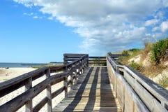 De Schaduwen van de middag bij Kaap Charles Beach Stock Afbeelding