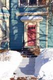 De Schaduwen van de winter stock afbeeldingen