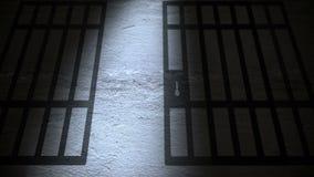 De schaduwen van gevangeniscellen stock illustratie