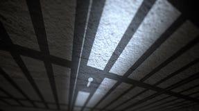 De schaduwen van gevangeniscellen Stock Fotografie