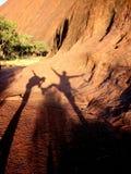 De Schaduwen van het binnenland in Uluru royalty-vrije stock afbeelding