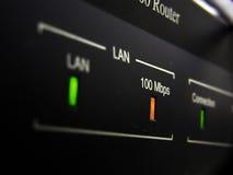 De schakelaar van de router Stock Fotografie