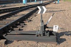 De schakelaar van de spoorweg royalty-vrije stock foto
