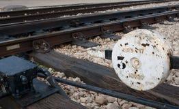 De schakelaar van de spoorweg Stock Foto's