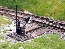De schakelaar van de spoorweg Stock Afbeelding