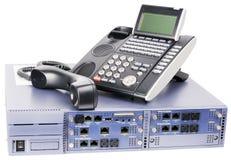 De schakelaar van de telefoon en van-haaktelefoontoestel Stock Afbeelding