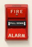 De Schakelaar van het brandalarm Stock Foto