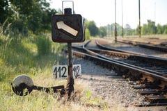 De schakelaar van het spoor Stock Afbeelding