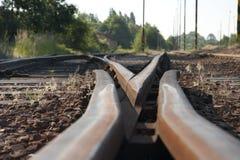 De schakelaar van het spoor Royalty-vrije Stock Afbeeldingen
