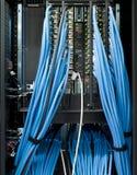 De schakelaars van het voorzien van een netwerk in een datacenter Stock Fotografie