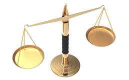 De schalen van de apotheker in evenwicht Royalty-vrije Stock Afbeeldingen