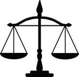 De schalen van de rechtvaardigheid Stock Afbeeldingen