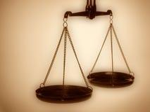 De schalen van de rechtvaardigheid Stock Foto's