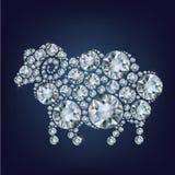 De schapen maakten omhoog heel wat diamanten Royalty-vrije Stock Fotografie