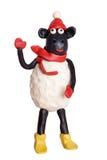 De schapen van de plasticine royalty-vrije stock afbeelding