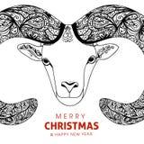 De schapen van de symboolgeit voor Chinees Nieuwjaar met Royalty-vrije Stock Fotografie