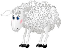 De schapen van het beeldverhaal vector illustratie