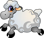 De schapen van het beeldverhaal stock illustratie