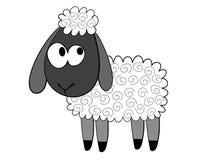 De schapen van het beeldverhaal Stock Afbeeldingen