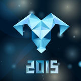 De schapen van het ijsmozaïek - symbool van het Nieuwjaar 2015 Stock Afbeeldingen
