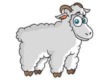 De schapenkarakter van het beeldverhaallandbouwbedrijf Stock Afbeelding