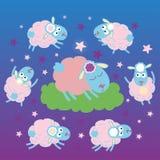 De schapenslaap Stock Foto's