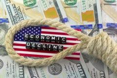 De scharnier op de economie van de V.S. royalty-vrije stock afbeeldingen